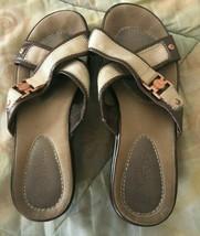 Cole Haan NikeAir Slip On Heel Sandal Slides Women's size 7 tan - $16.92