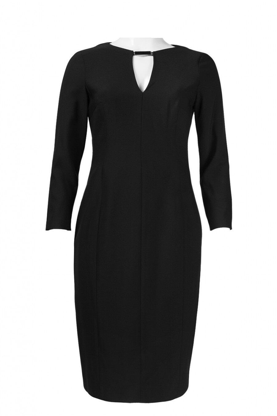 Primary image for New Anne Klein 3/4 Sleeve Keyhole Crepe Sheath Dress Black Size 2