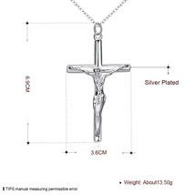 """Mens Womens  Silver Cross Pendant 18"""" Snake Chain Necklace #N56 - $9.79"""