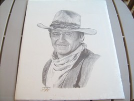 "1991 Signed Print J HOLTER 5-15-87 John Wayne 17"" x 21"" [Z10A] - $87.98"