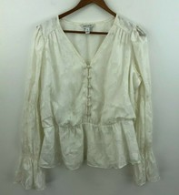 Elizabeth And James Blouse Top Womens Medium Ruffle Romantic Bell Sleeve... - $38.69