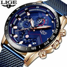 LIGE 2019 Mens Watches Top Brand Luxury Waterproof Fashion Watch Quartz Watch image 1