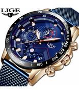 LIGE 2019 Mens Watches Top Brand Luxury Waterproof Fashion Watch Quartz ... - $33.65+