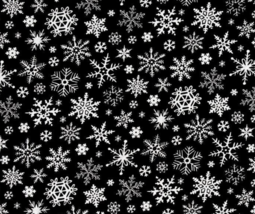Snow flakes Christmas Theme Timeless Treasures 100% cotton fabric by the... - $14.69
