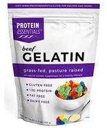 Protein Essentials Beef Gelatin: Unflavored, Non-GMO, Gluten-Free, Dairy... - $19.53
