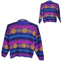 Vintage Croquet Club Mujer Suéter Multicolor Punto Hecho En Ee.uu. Size ... - $18.52