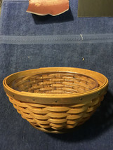 """LONGABERGER SMALL OVAL BASKET WITH PROTECTOR 7"""" X 3 1/2""""  NEW - $20.75"""