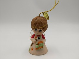 Jasco  Lil Angel Chimers Bell Porcelain Bisque Christmas Ornament - $5.91