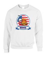 Adult Sweatshirt Fast Food 'merica Love USA 4th Of July Top - $19.94+