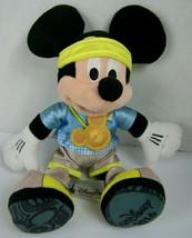 Disney Parks Mickey Mouse Marathon Runner Plush 11 Inch Run Disney Medal... - $24.74