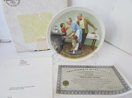 KNOWLES COLLECTOR PLATE THE COOKIE TASTING 3RD GRANDPARENTS SERIES 6777 ... - $4.90