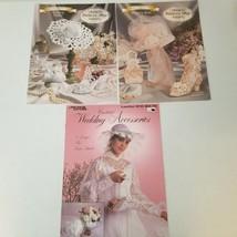 Crochet Lot of Three Wedding Patterns Slipper Boot Accessories - $8.58