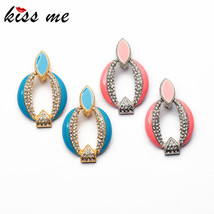 KISS ME 2017 Trendy Statement Jewelry Luxury New Gold Color Enamel Clip ... - $43.13