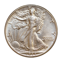 1944 P Walking Liberty Half Dollar - Choice BU / MS / UNC - $39.00