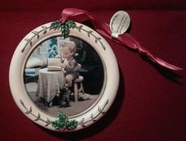 "Hummel Christmas Ornament Danbury Mint Circle ""Little Bookkeeper"" - $8.15"