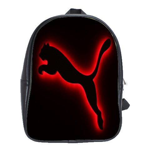 40dd7327e2c Backpack School Bag Jumping Cat Puma Logo With Red Light In Black  Background Gam - $33.00