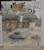 CHINESE VILLAGE SCENE WATERCOLOR PAINTING - UNKNOWN ARTIST FROM CHRISTIE'S - $9,900.00