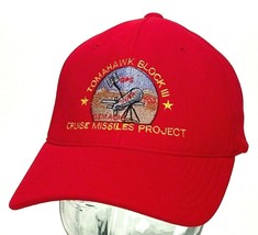 Vtg TOMAHAWK BLOCK III Hat-Cruise Missles Project-Red- - $20.56