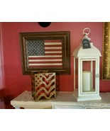 "Lanterns- Candle impressions- 15.5"" tall, 6"" wide. White/Red/Bronze/Gree... - $49.99"