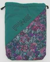 Ping Green Fleece Lined Floral Storage Carry Golf Shoe Cinch Bag - $149,52 MXN