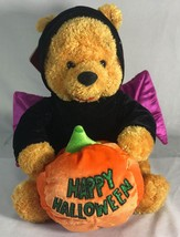 "The Disney Store Happy Halloween Bat Pumpkin Pooh 12"" Plush - $24.75"