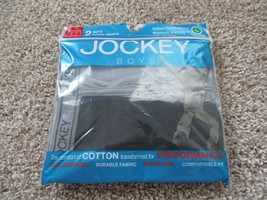 BNIP Jockey 2pk Cotton boxer briefs, big boys, pick size, Black & grey - $6.99