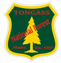 Tongass National Forest Sticker R3319 Alaska You Choose Size - $1.45+