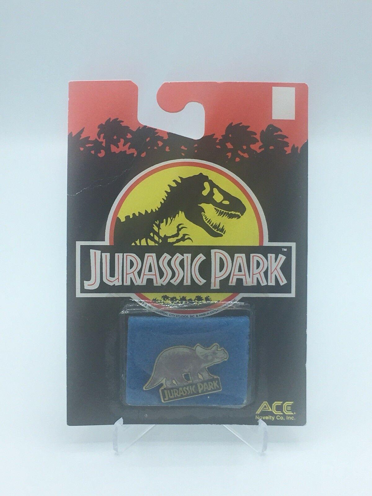 Jurassic Park Triceratops Enamel Pin 1992 Ace Novelty Dinosaur
