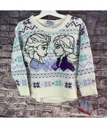 Disney Frozen II 3T Elsa and Anna Sweater with Sequin snowflake - $15.89