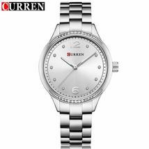 CURREN Watch Women Casual Fashion Quartz Wristwatches Crystal Design Ladies Gift - $44.72