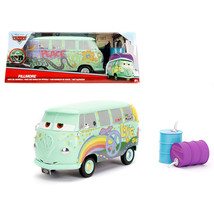 Disney Pixar \Cars\ Movie Fillmore with Oil Cans Diecast Model Car by Jada 98492 - $38.86