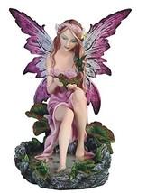 "10"" Purple Water Fairy Statue Figurine Figure Fantasy Home Decor - $52.00"