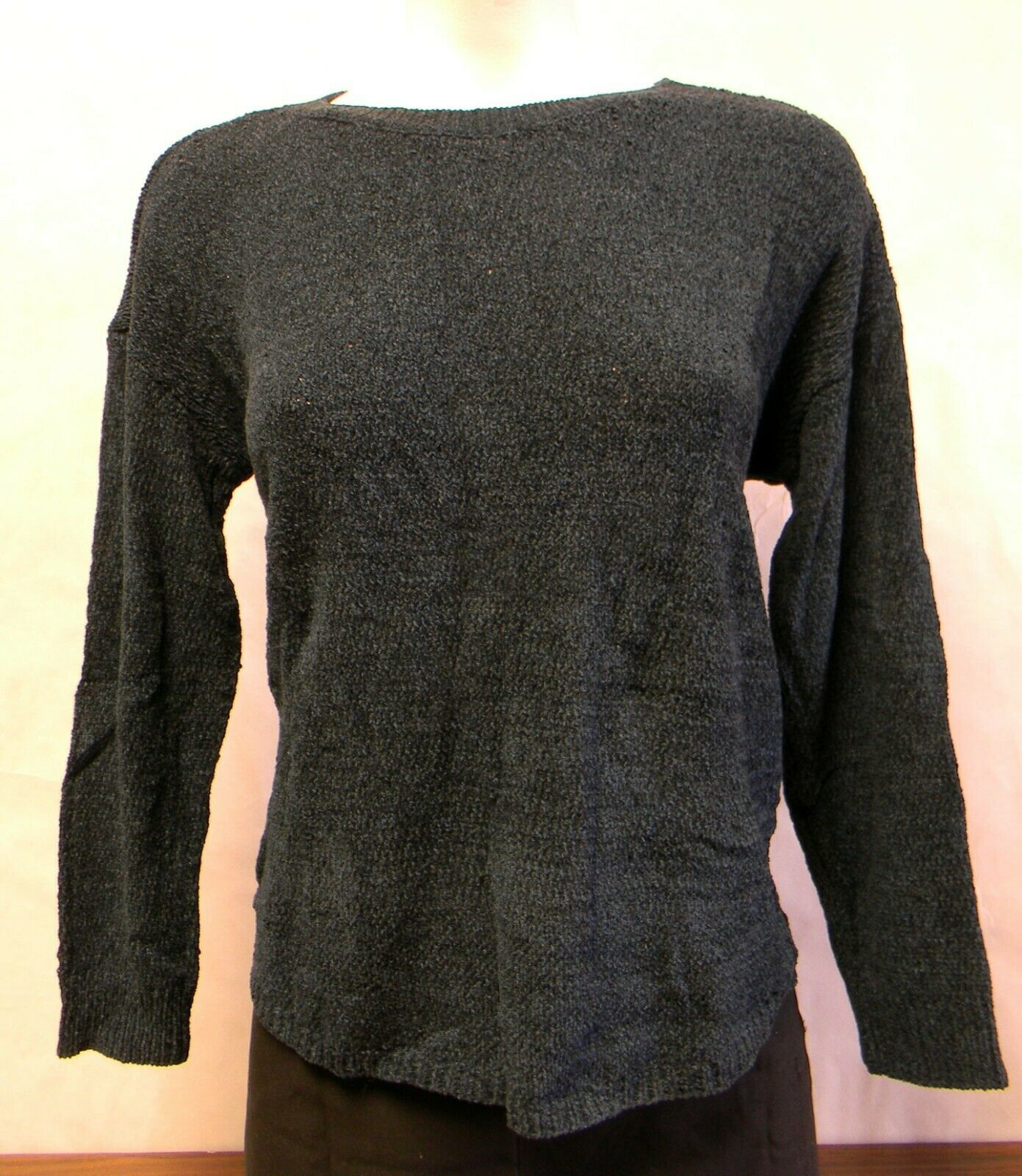 Primary image for Women's Ellen Tracy Knitted Deep Ocean Blue Sweater Size S Long Sleeve