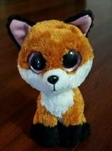 "Ty Beanie Boo's 6"" Slick the Fox Plush Red Fox Stuffed Animal 2015 - $3.99"