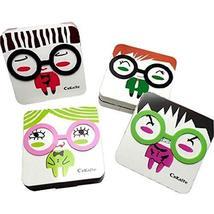 Korea Style Cute Figure Lenses Holder Square Shape Contact Lenses Cases - $17.73
