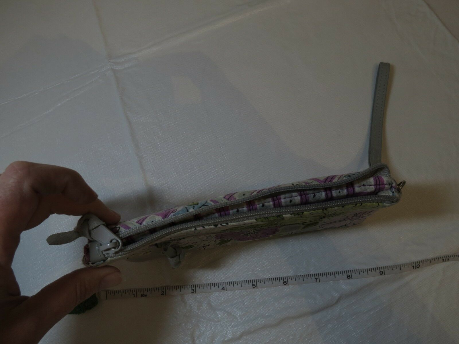 Vera Bradley Cinturino Watercolor Portafoglio Viola Grigio Organizer Cambio Id image 9