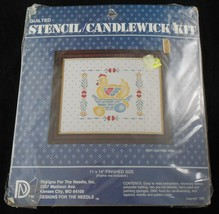 Quilted Stencil Candlewick Kit 5011 Laying Hen Vintage 1983 Chicken Eggs - $11.88
