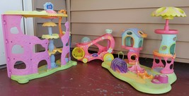 LPS Lot Whirl Around Play Ground, Pet Town & Pink Car Paw Powered Cruiser - $46.74