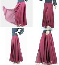 Purple Chiffon Skirt High Waisted Long Chiffon Skirt Wedding Chiffon Skirts image 8