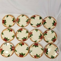 12 Vintage Franciscan Apple Earthenware Bread and Butter Plates Hand-Painted USA - $26.99