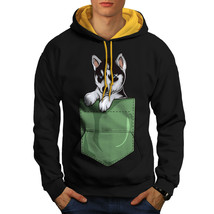 Cute Puppy Outside Pocket Sweatshirt Hoody  Men Contrast Hoodie - $23.99+