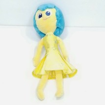 "Disney Store Inside Out Joy 10"" Soft Plush Doll Blue Hair Stuffed Girl - $12.86"