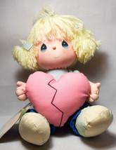"PRECIOUS MOMENTS ""LOVE IS THE GLUE THAT MENDS A BROKEN HEART"" PLUSH 1988 - $14.84"
