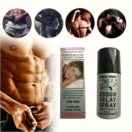 Primary image for FREE SHIP GERMANY SHARK POWER 45ml External Use-SXx Delay Spray WITH VITAMEN E