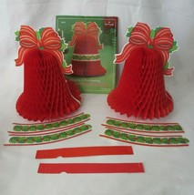 Vintage Hallmark Crepe Paper Accordion Bell Hang or Stand Decoration Two in Pack - $20.00