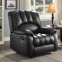 Black Leather Seat Lounge Sofa Recliner Home Theater Living Room Comfort... - $261.53