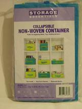 11 in X 7.5 in X 4 in Collapsible Storage Container - Blue with Green - ... - $1.49