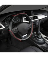 AutoYouth® PU Leather Steering Wheel Cover Sports Skyle With Anti-slip B... - $17.30