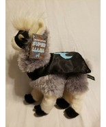 2017 Classy Llama Super Hero Plush Stuffed Animal Grey Black Cape Mask Toy  - $19.78