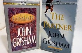BBD Lot of 2 Audio Books by John Grisham The Rainmaker and The Partner - $14.15